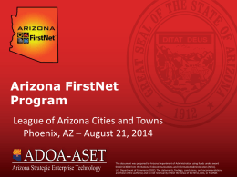 Arizona FirstNet Program - League of Arizona Cities and Towns
