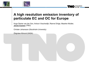 A European-wide inventory of EC and OC
