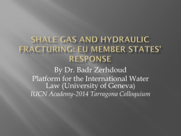 Shale gas and hydraulic fracturing: EU member states* response