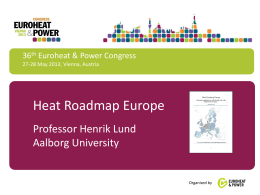EU Energy Roadmap 2050
