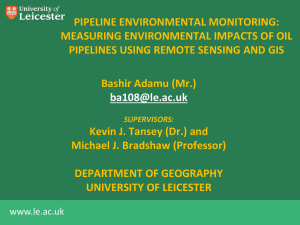 measuring environmental impacts using remote sensing and GIS