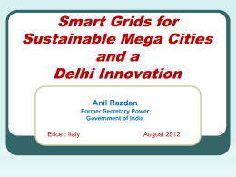 Smart Grid Innovation for Sustainable Megacities