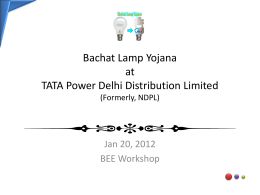 Bachat Lamp Yojana at TATA Power Delhi Distribution Limited