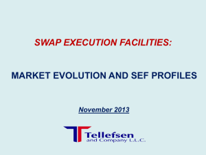 Swap Execution Facilities Market Evolution and SEF