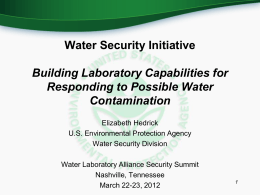 Water Security initiative