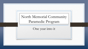 North Memorial Community Paramedic Program