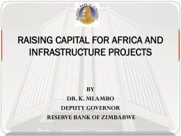 raising capital for africa and infrastructure projects