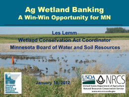 MN Stat.103G.2242, Subd. 1 - Wetland Delineator Certification