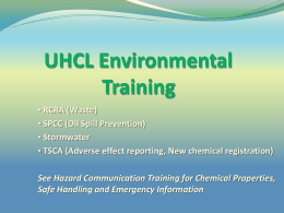 Laboratory Environmental Train - University of Houston