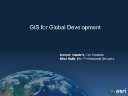 Esri - GIS for Global Development