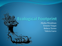 Ecological footprint & energy recycling - i