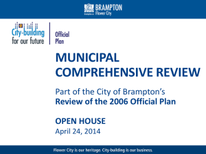 Official Plan Review: Open House - April 2014