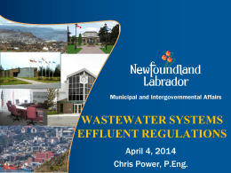 wastewater system effluent regulations