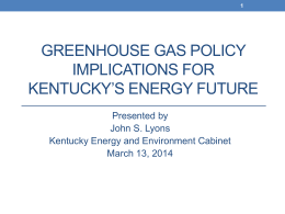 John S. Lyons, Kentucky Energy and Environment Cabinet.
