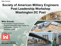 Agenda - The Society of American Military Engineers