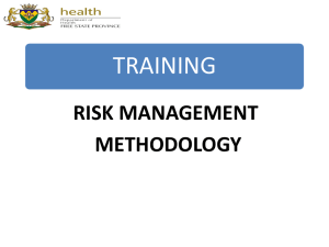 Training Risk Management Methodology no 2