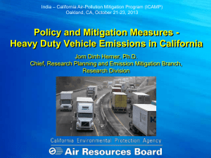 Heavy Duty Vehicle Emissions in California - Dr. J.D.