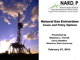 Natural Gas Extraction Power Point