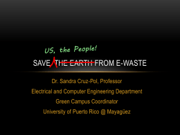 Save Earth from E-waste