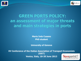 GREEN PORTS POLICY
