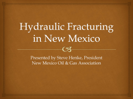 Hydraulic Fracturing in New Mexico