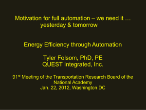 Energy Efficiency through Automation