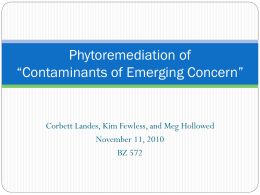 Phytoremediation of Pharmaceuticals, Hormones, and other Organic