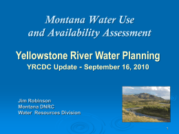 Montana State Water Plan - Yellowstone River Conservation District