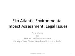 Eko Atlantic Environmental Impact Assessment: Legal Issues