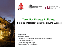 Zero Net Energy Buildings - Continental Automated Buildings