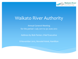 Not registered - Waikato River Authority