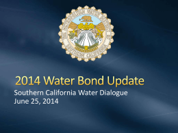 Title of Presentation - Southern California Water Dialogue
