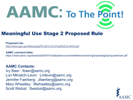 Meaningful Use Stage 2 Proposed Rule