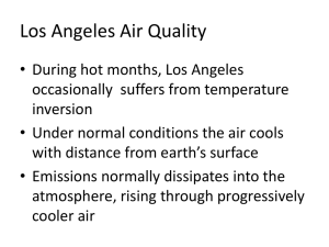 Air Quality in Los Angeles - Cal State LA