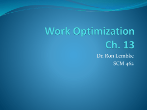 Work Optimization Ch. 13
