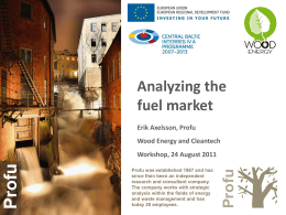 Analyzing the Fuel Market