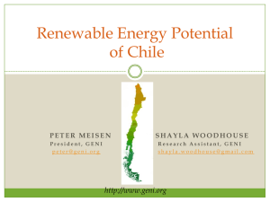 Renewable Energy Potential of Chile