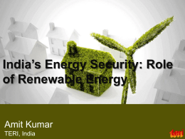 Role of Renewable Energy