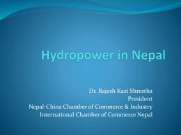 Hydropower in Nepal - Nepal China Chamber of Commerce
