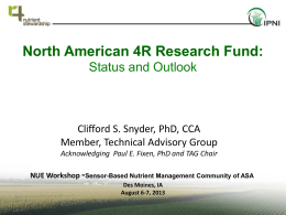 IPNI-North American 4R Research Fund
