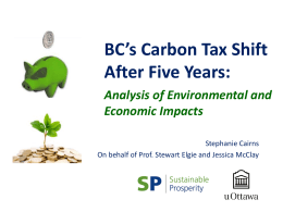Understanding the Positive Impact of BC`s Carbon Tax