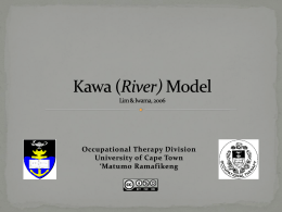Kawa Model - Vula - University of Cape Town