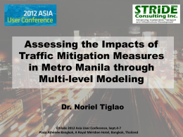 Assessing the Impacts of Traffic Mitigation Measures in