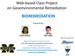 An Introduction to Bioremediation