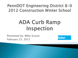 ADA Curb Ramps
