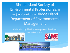 Rhode Island Society of Environmental Professional in