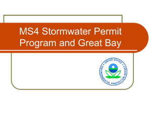 Overview of the Draft Small MS4 General Permit