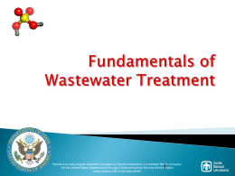 Fundamentals of Wastewater Treatment