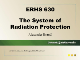 Environmental and Radiological Health Sciences