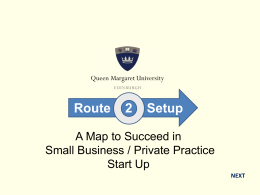 Small Business Start Up Route Map